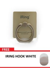 iRing Stand - Phone Holder 360 Degree Rotation Free Hook - Gold