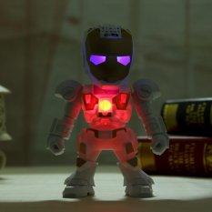 Jual Iron Man Portable Speaker Bluetooth Dengan Warna Warni Led Dukung Aux In Fm Tf Kartu Merah Intl Oem Branded