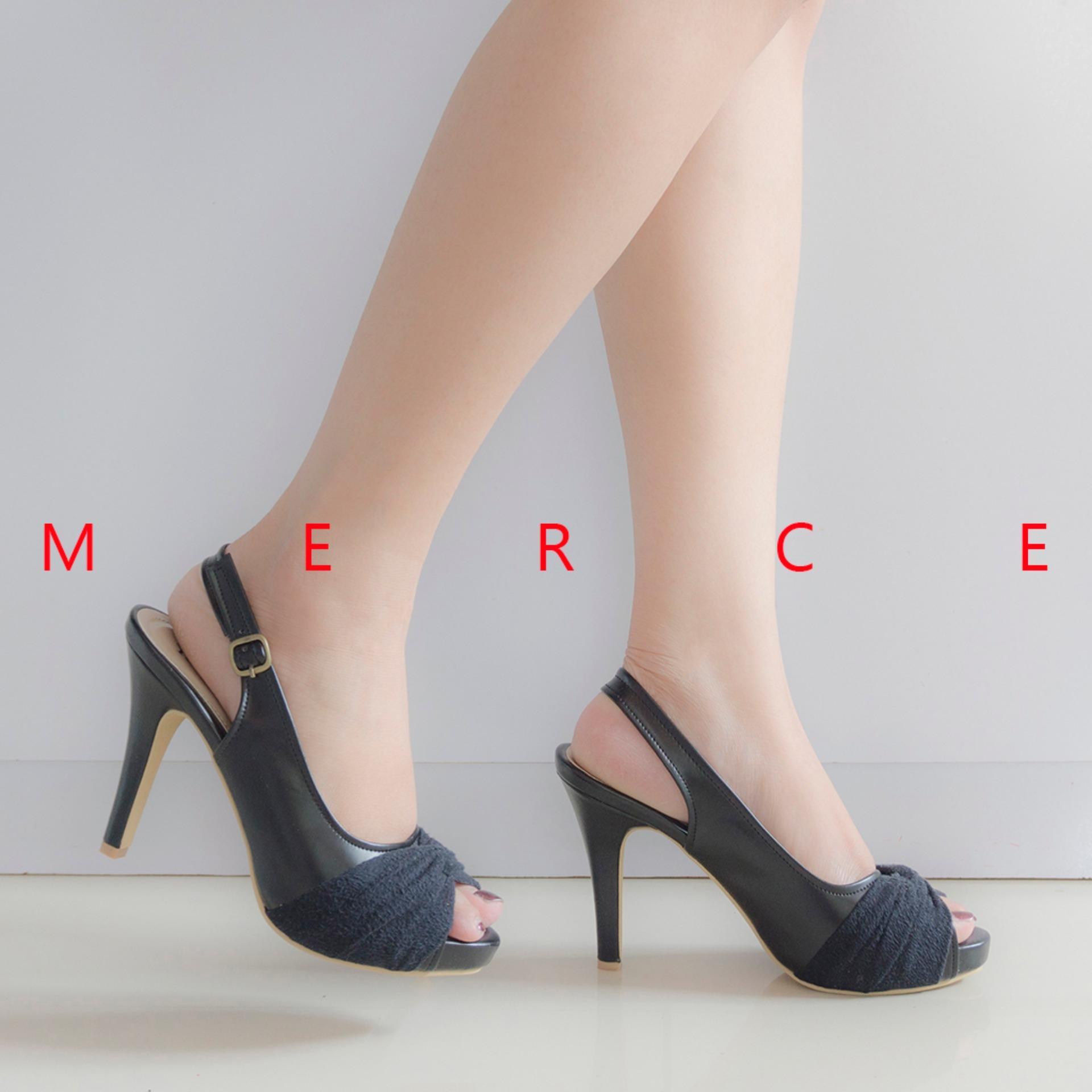 Harga Isabel Sepatu Wanita Hak Tinggi Ivanka Heels Hitam Termurah