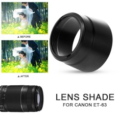 ISM Creative Camera Lens Hood Lens Shade Lens Cover Portable Durable Petals Black Camera Photography EF-S 55-250mm F/4-5.6 IS STM - intl