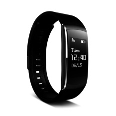 Review Iwown I6 Pro Bluetooth 4 Ip 57 Smart Bracelet 24 Hour Real Time Heart Rate Monitor Fitness Tracker Wristband For Andriod Ios Black Intl Oem