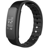 Iklan Iwownfit I6 Hr Tpu Tpe Bluetooth V4 Ip67 Smart Gelang Hitam