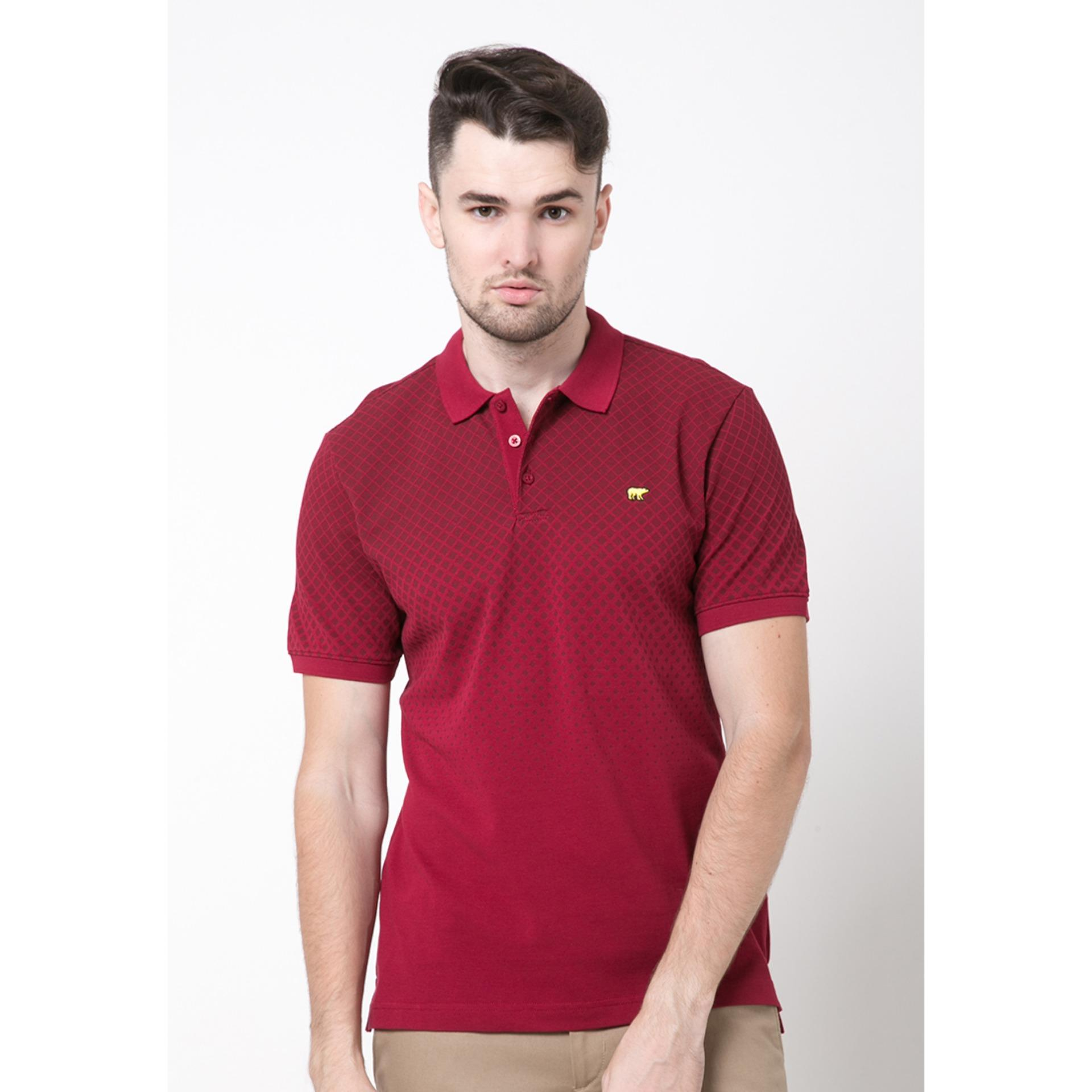 Diskon Jack Nicklaus Lomond Burgundy Polo Shirt Branded
