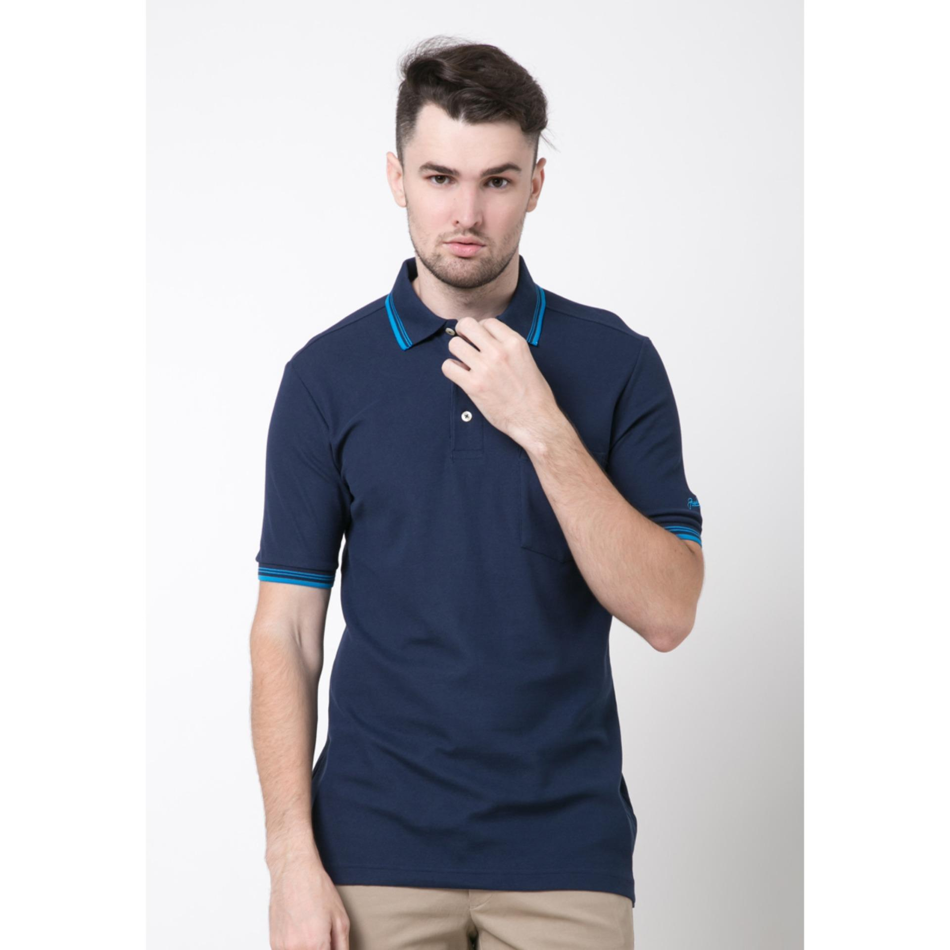 Harga Jack Nicklaus Universal 3 Navy Polo Shirt Original