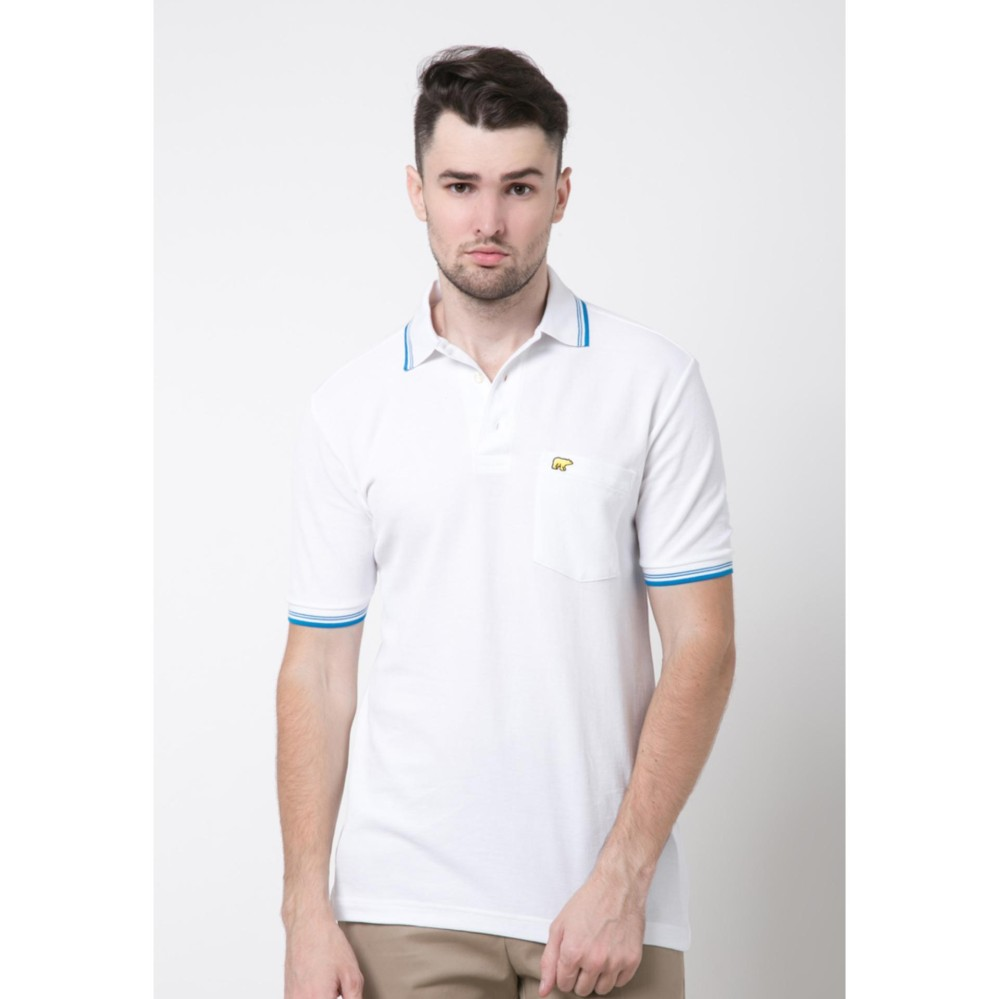 Promo Jack Nicklaus Universal 3 White Polo Shirt Murah