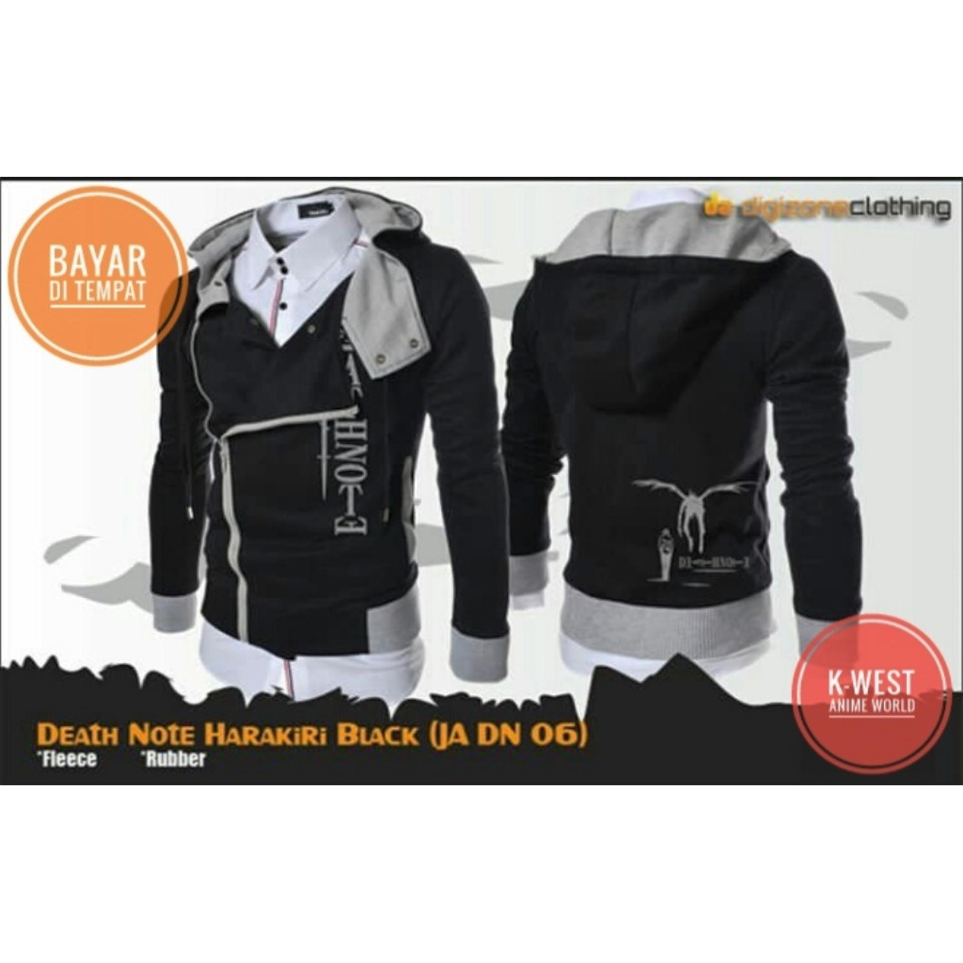 Jual Jaket Anime Death Note Harakiri Style Black Hoodie Best Seller K West Murah