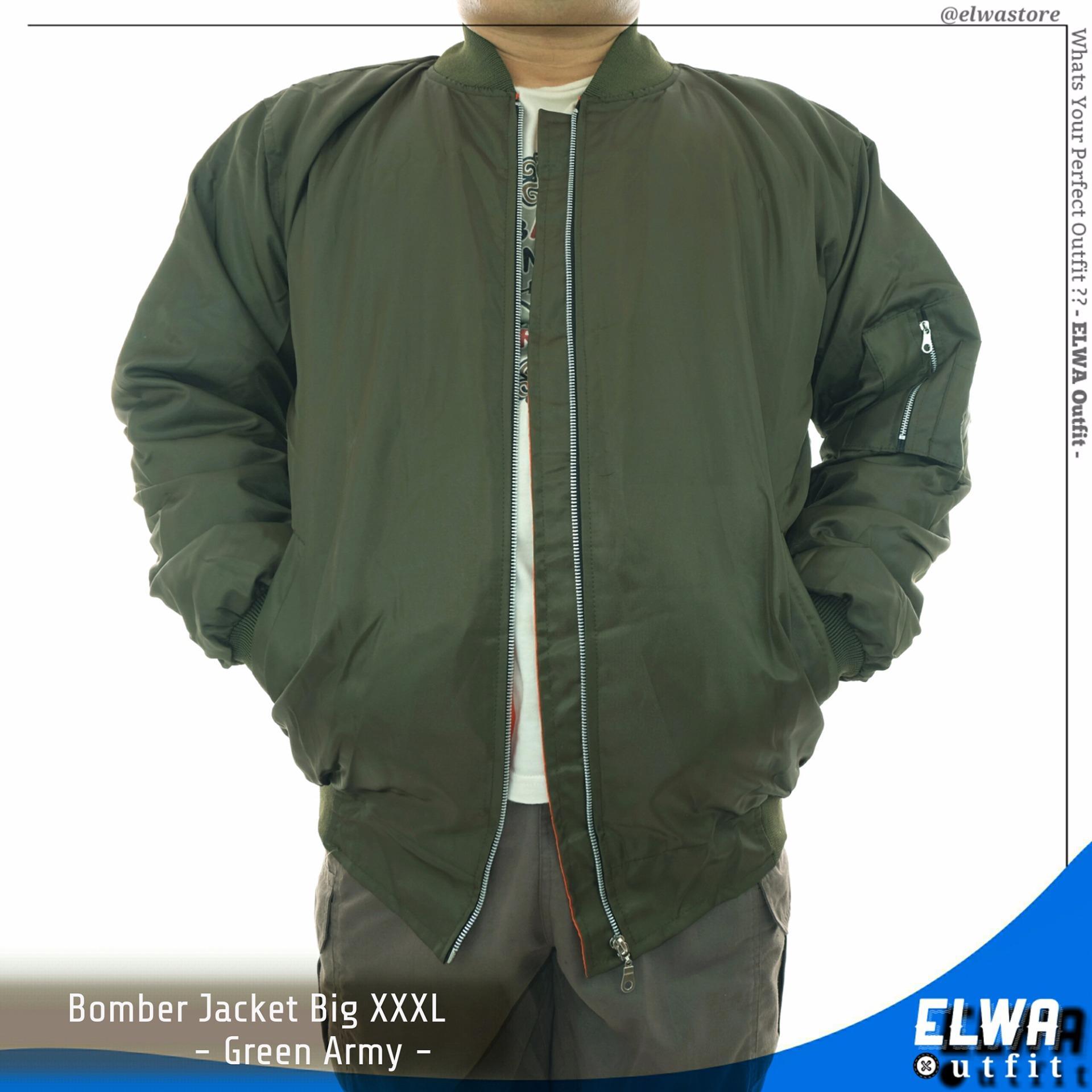 Spesifikasi Jaket Bomber Pria Jumbo Big Size Xxxl Greenarmy Yang Bagus Dan Murah