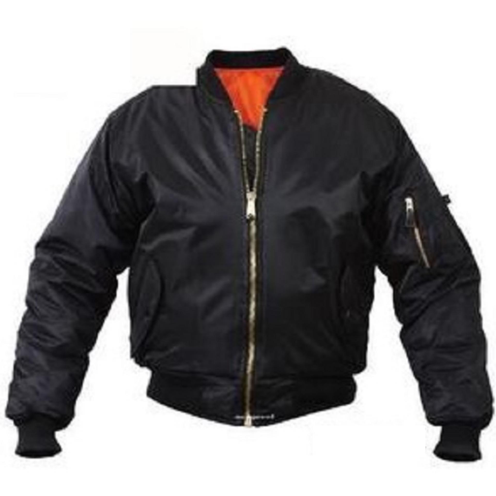Jual Jaket Bomber Size All Size Premium Hitam Online