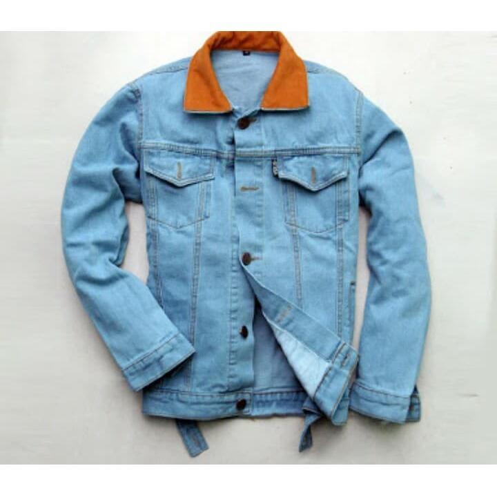 Harga Jaket Jeans Dilan Bioblitz Biru Dongker Pria Merk Level Up