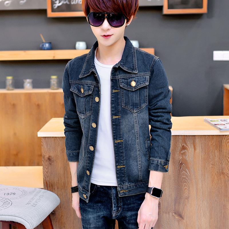 Promo Jaket Jeans Trendi Pria Fit Badan Gaya Korea 209 Biru 209 Biru Di Tiongkok