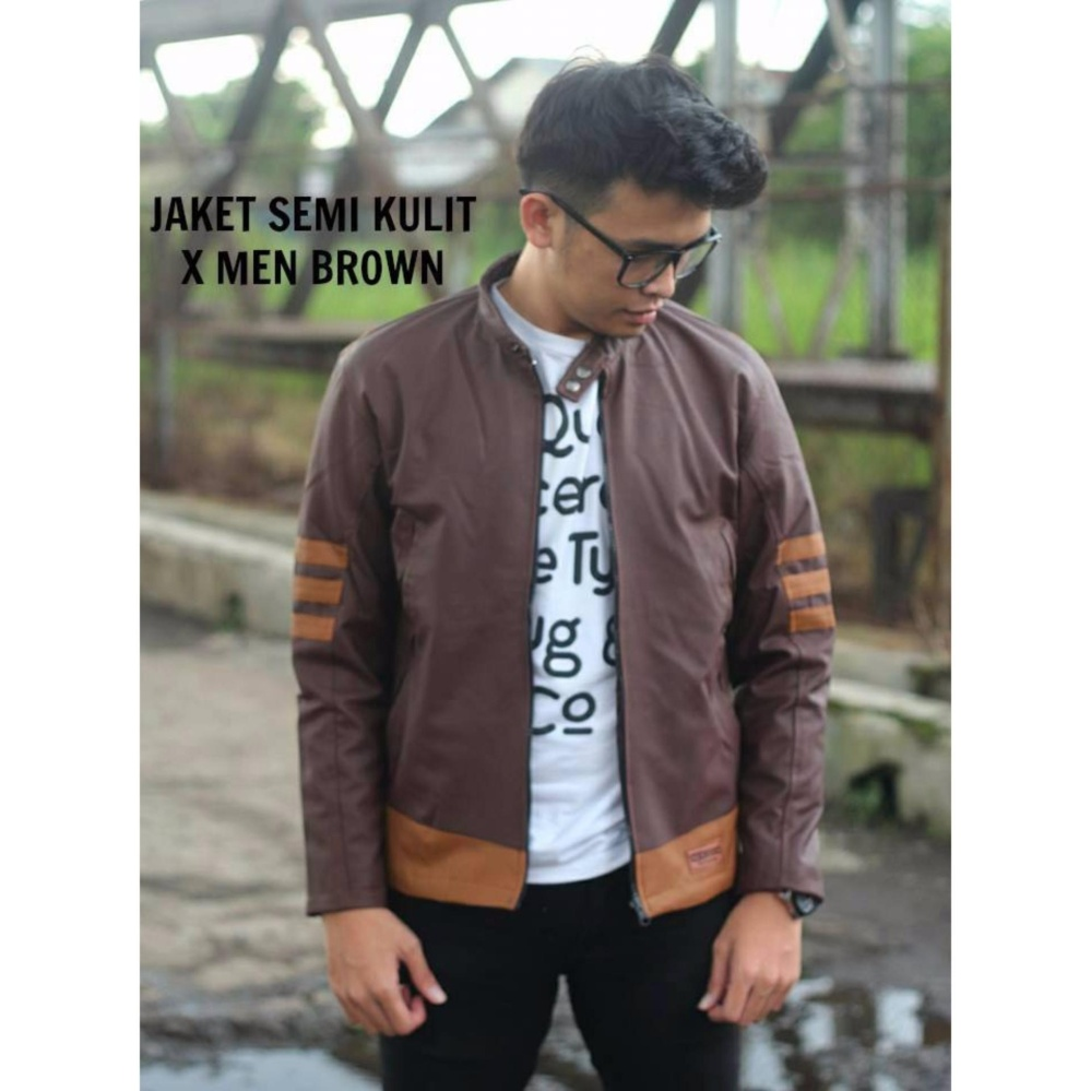 Jaket Murah Semi Kulit Wolverine Brown (BEST SELLER)