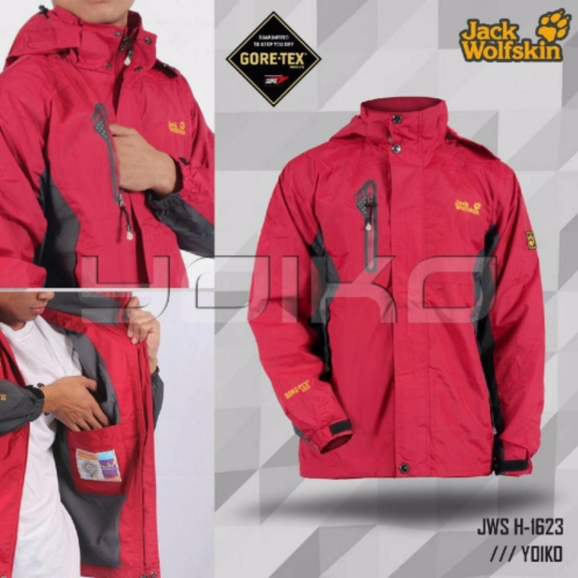 Model Jaket Outdoor Gunung Jw Import Merah Terbaru