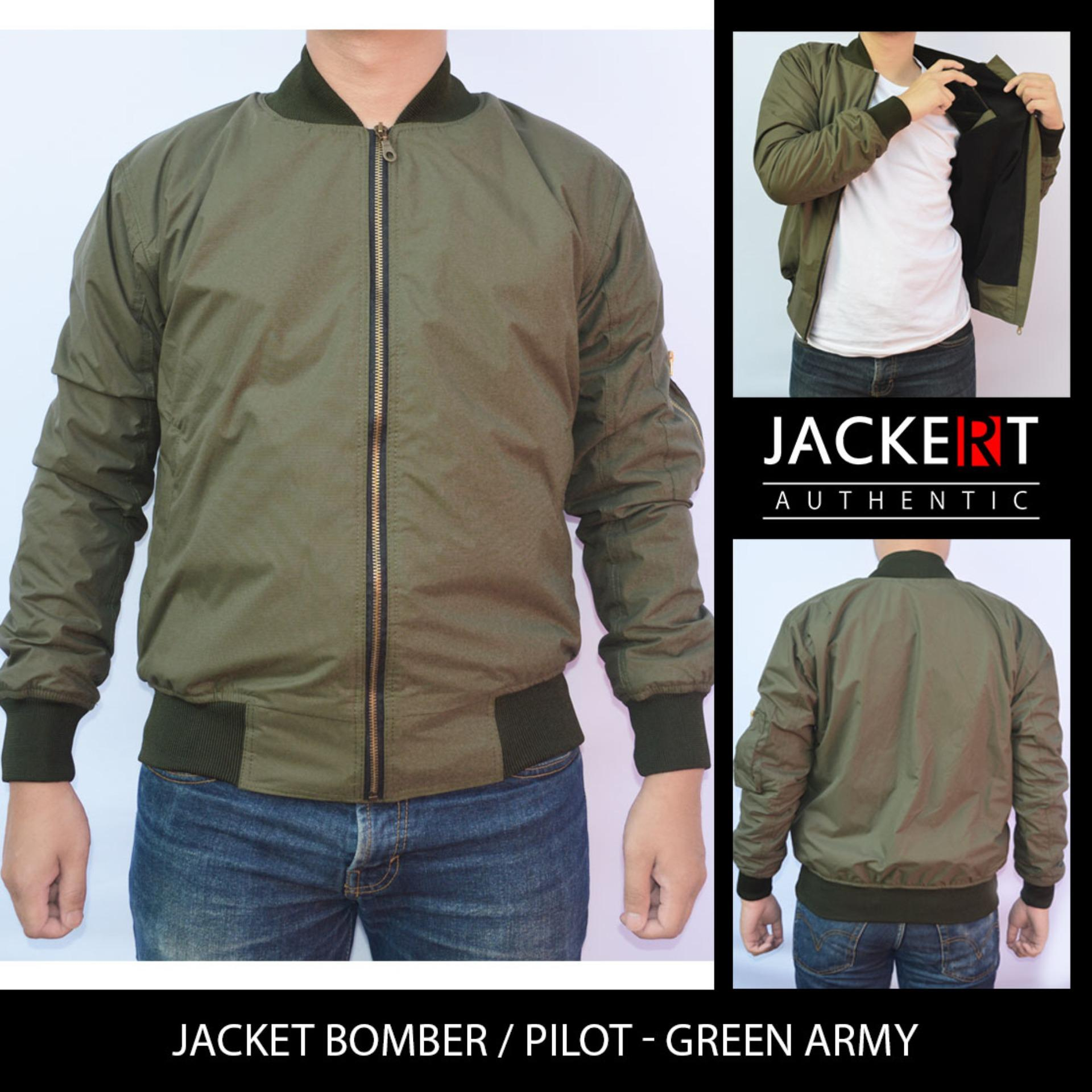 Jaket Pilot / Bomber Premium Tahan angin & Anti Air Model Slim Fit