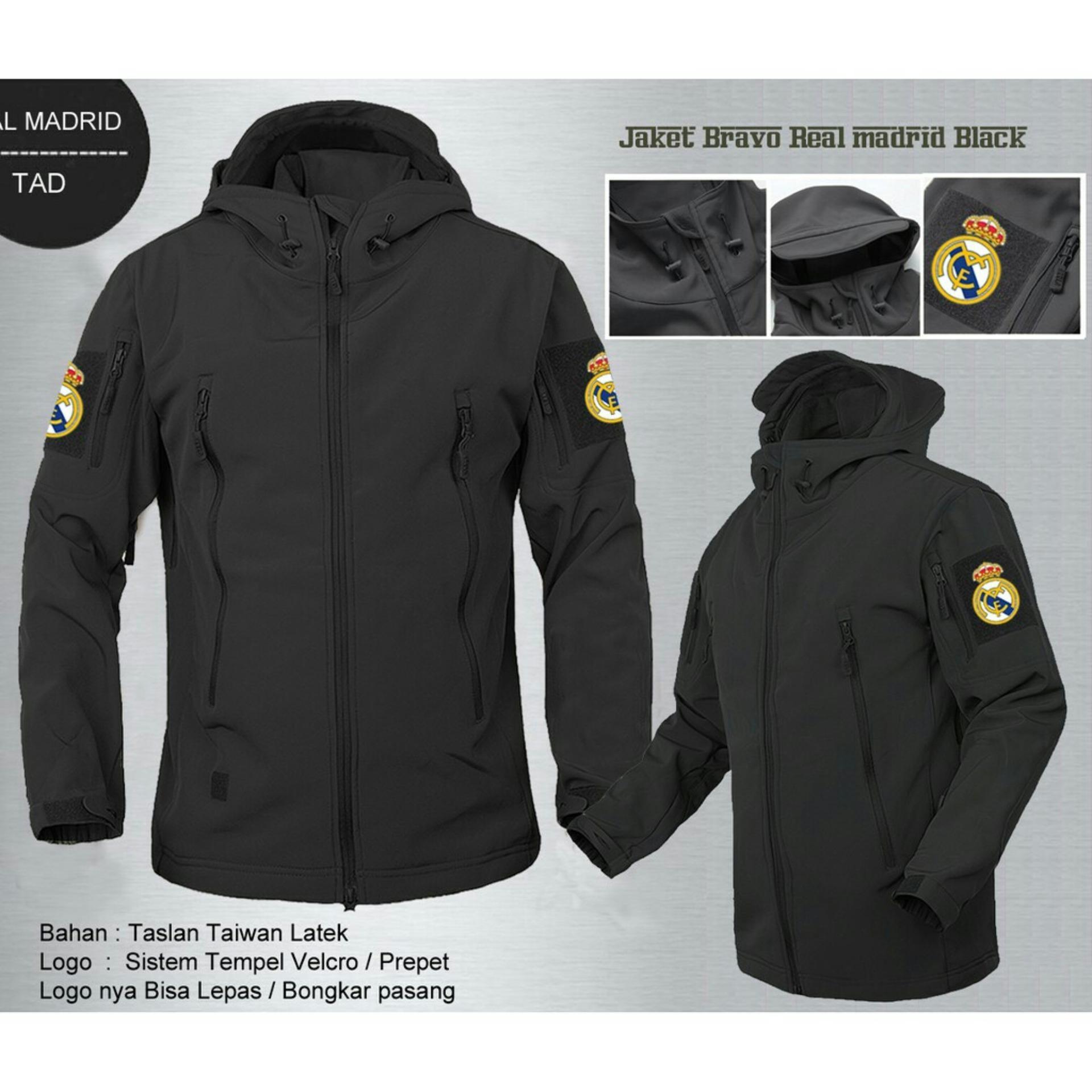 Spek Jaket Tactical Tad Hitam Promo Jaket Murah Trendy Tersedia Logo Garuda Indonesia Dan All Club Bola