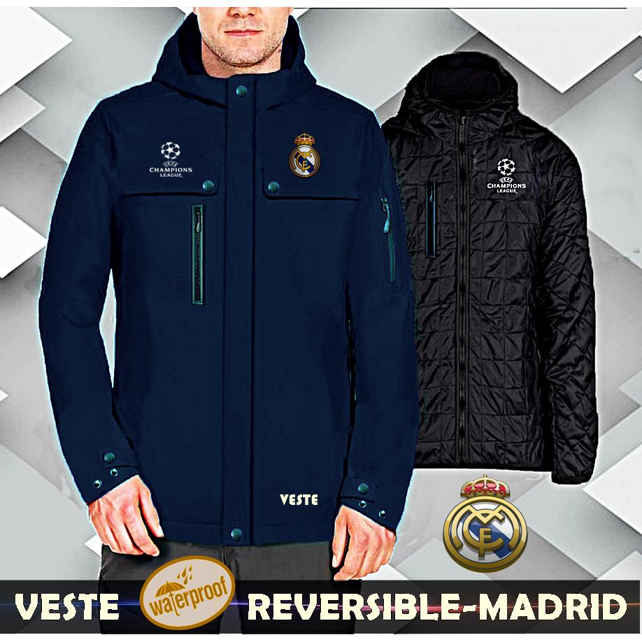 Beli Jaket Veste Bola Real Madrid Waterproof Nyicil