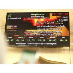 Jam Digital Masjid Layar TV