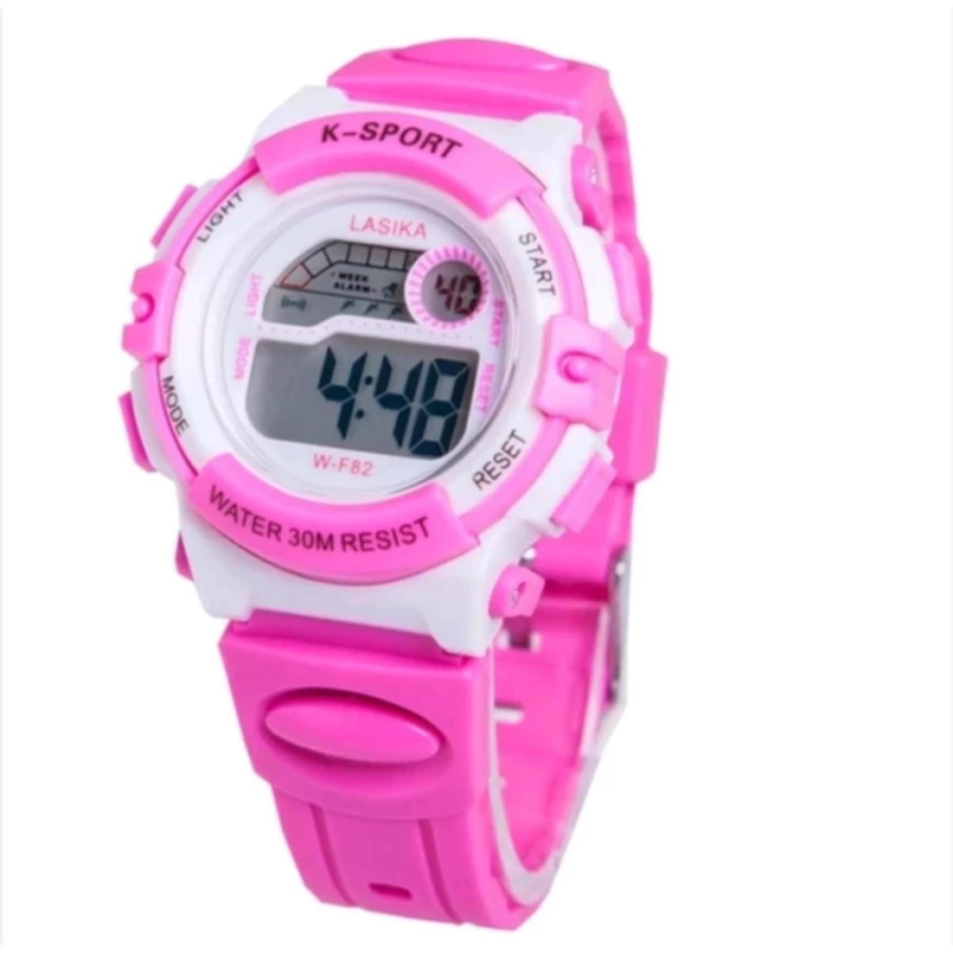 Jam Tangan Anak Lasika Unisex - Rubber Strap - Pink - W F82MR