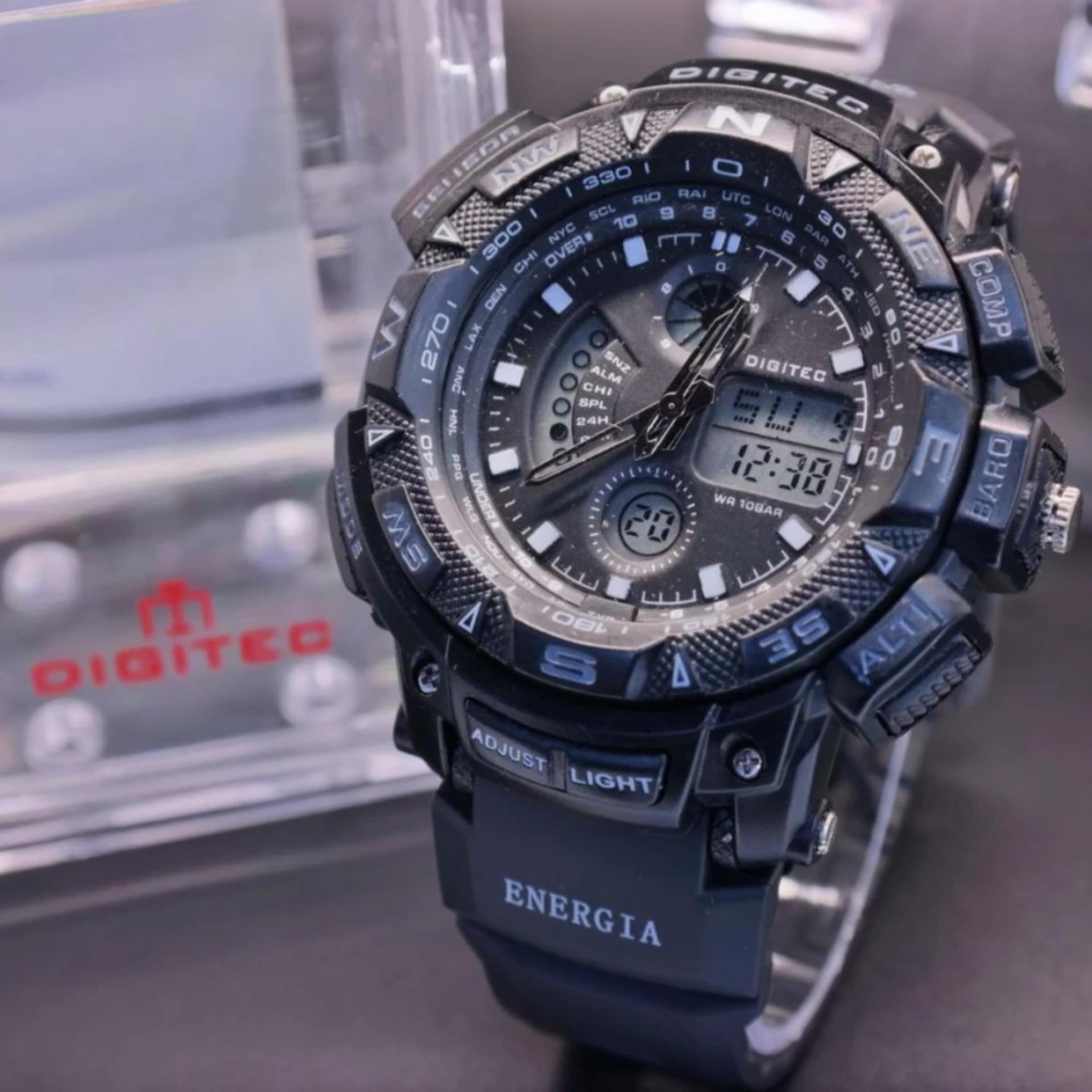 Watches Digitec Jam Tangan Sport Couple Original Black Grey Dg 2044t Rubber Strap Kombinasi Bp
