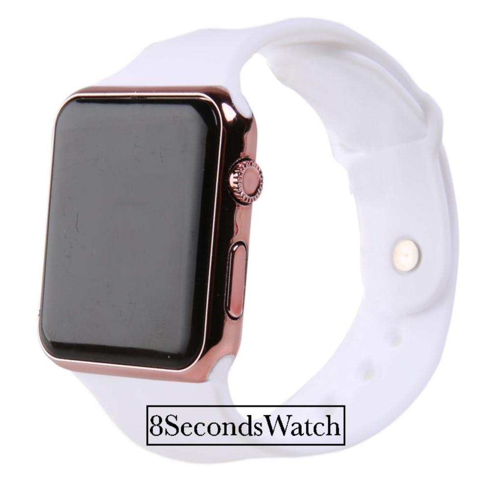 Jam Tangan LED - Jam Tangan Pria dan Wanita - Strap Karet - Apple White  (Steel 2371f0e974