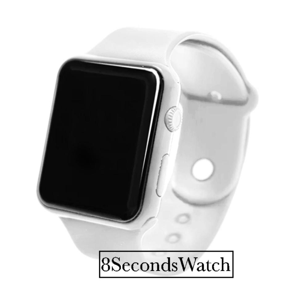 Jam Tangan LED - Jam Tangan Pria dan Wanita - Strap Karet - Putih -  LED White  08c71563c1