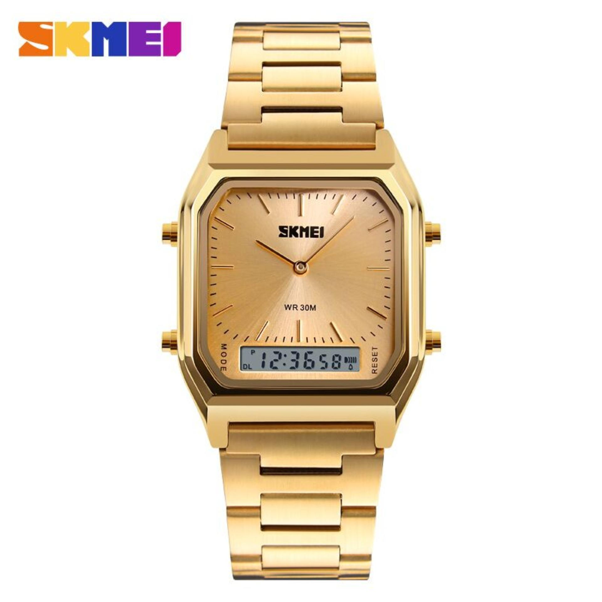 Jam Tangan SKMEI Casio Men Sport Watch Water Resist DG1220 Jam Tangan Pria Original Garansi - Gold