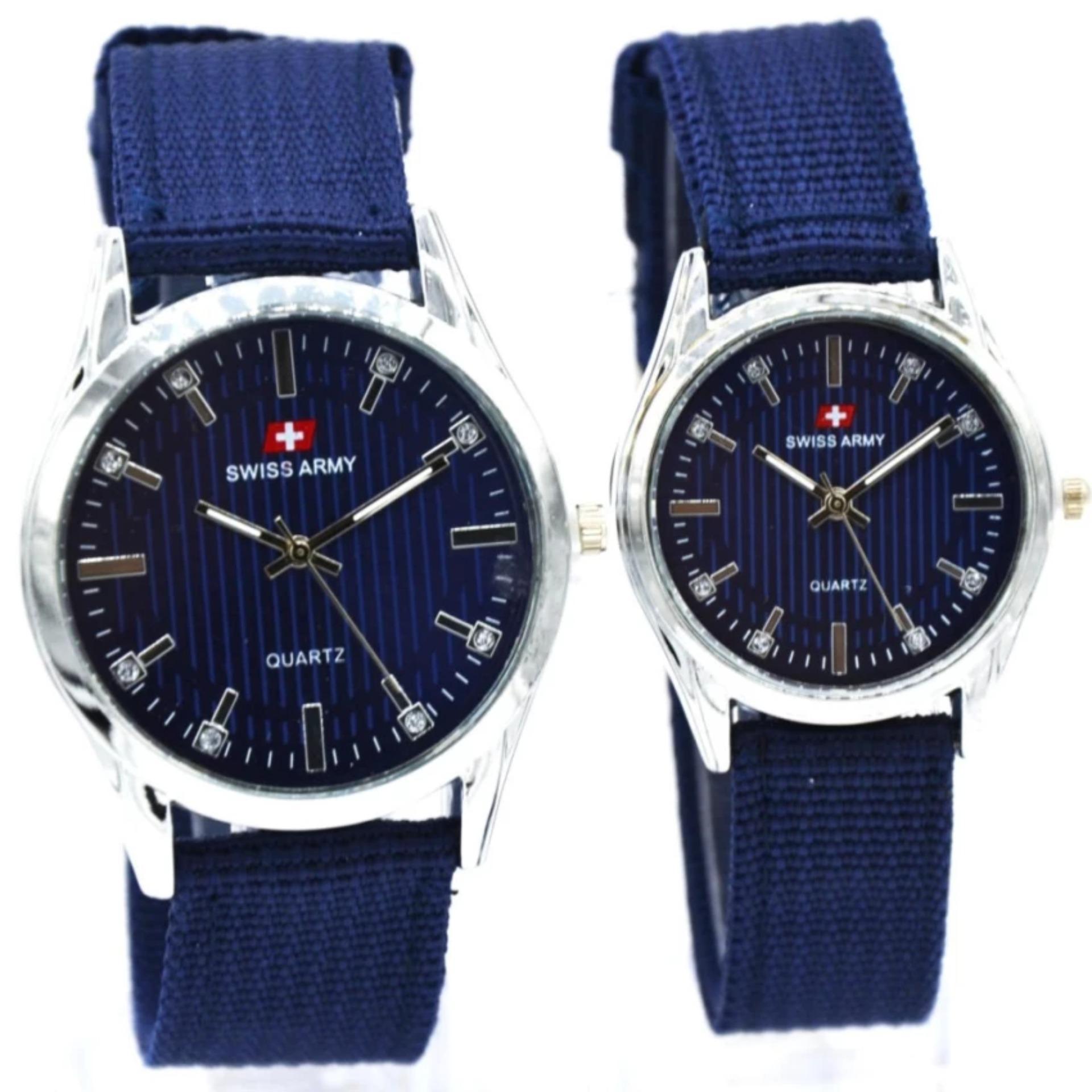 ... jam tangan swiss army couple strap canvas