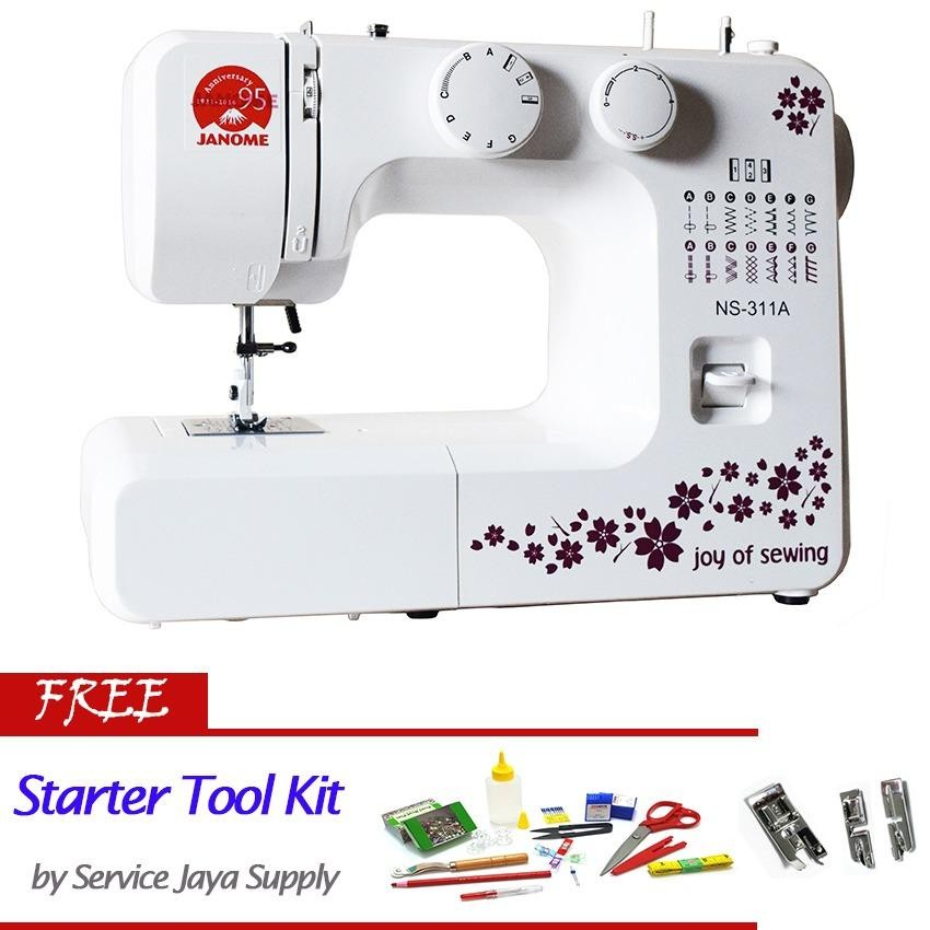 Jual Janome Ns 311A Mesin Jahit Portable Free Sjs Starter Kit Antik