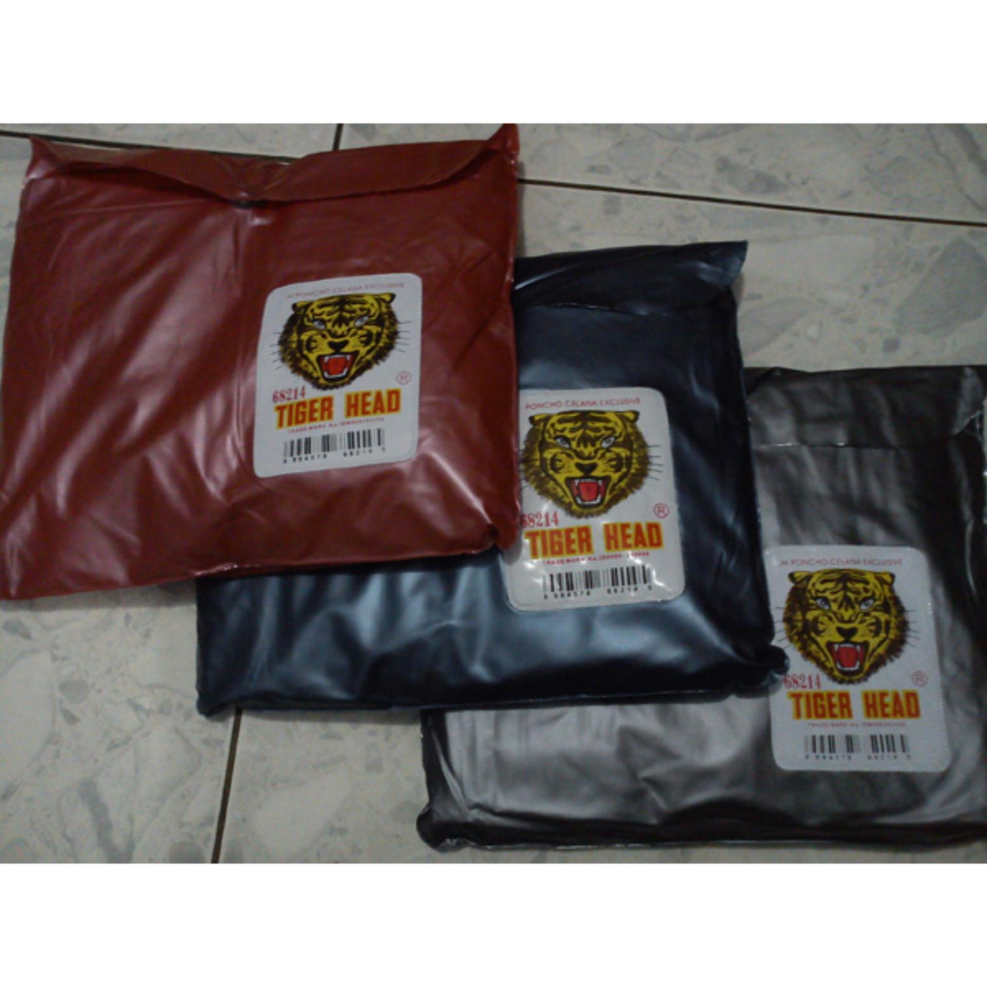 Buy Sell Cheapest Tiger Head 68214 Best Quality Product Deals Jas Hujan Poncho Celana Ekslusif Rain Coat Motor Biru Tangan Ponco Kode