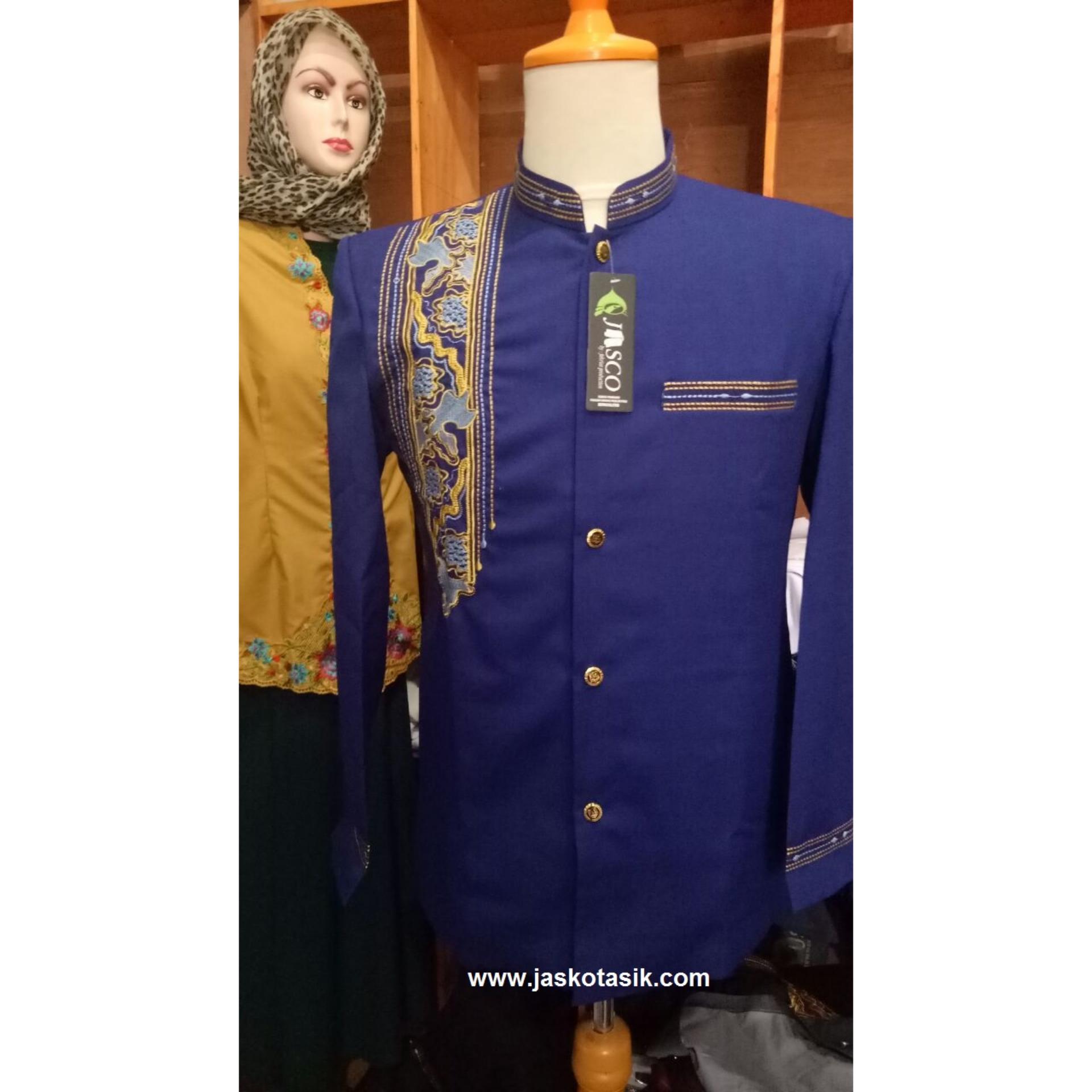 Jasko Motif Sorban Batik Biru Muda Original