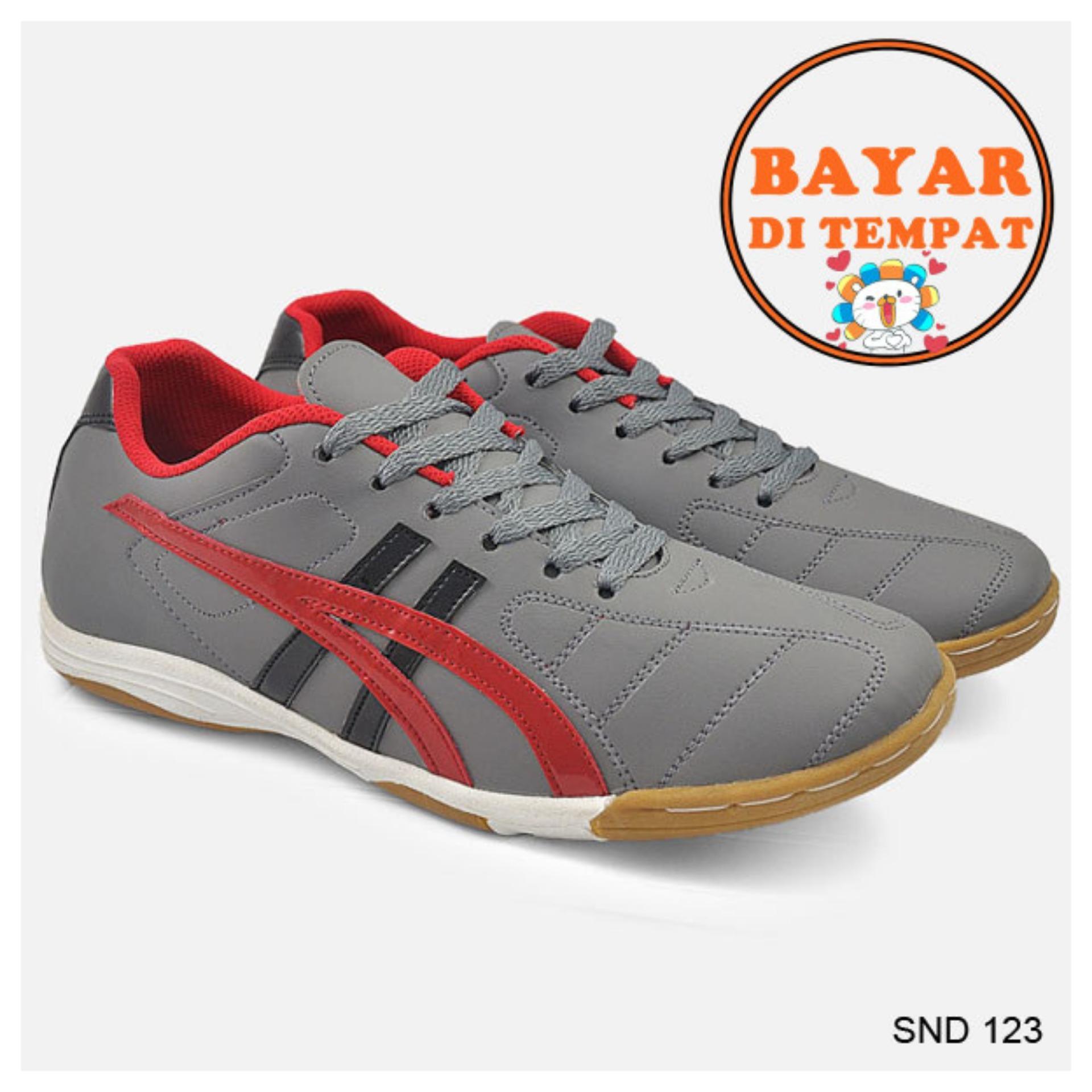 Java Sepatu Futsal Keren Dengan Jahitan Sole Yang Kuat SND 123 - Abu-Abu