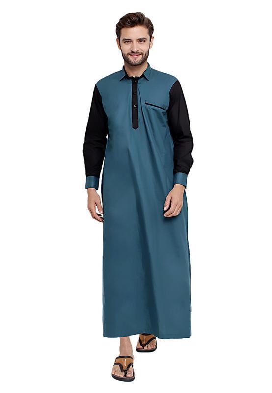 Review Java Seven Jsr 035 Baju Gamis Pria Cotton Bagus Elegan Toska Terbaru