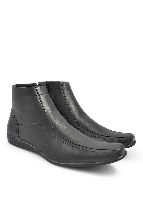 Java Seven RDW 732 Sepatu pantofel pria - kulit - bagus & elegan (hitam)