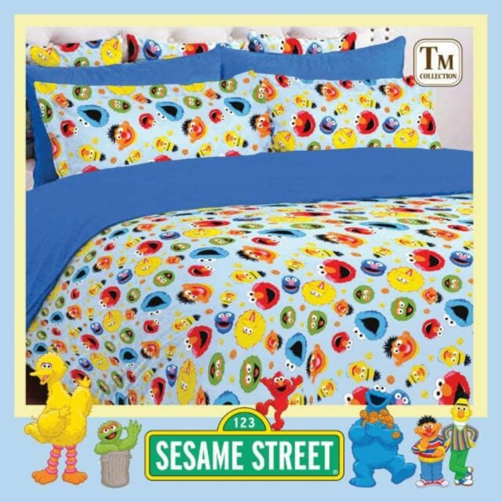 Harga Jaxine Sprei Katun Motif Sesame Street Original