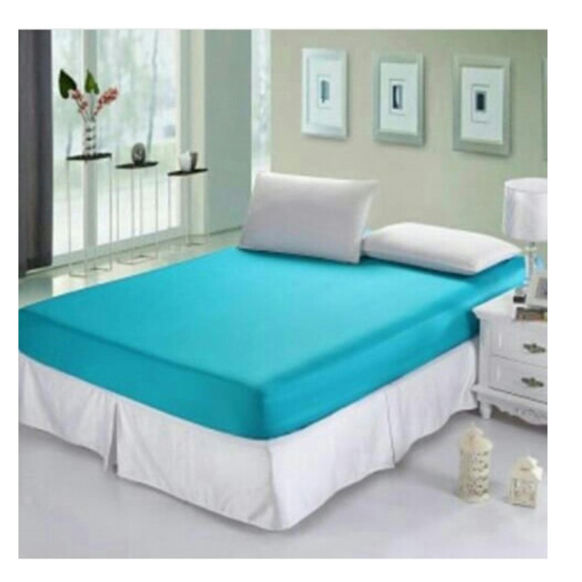 Harga Jaxine Sprei Waterproof Biru Muda 160 Jaxine Online