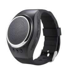 Jaxuzha Olahraga Musik Bluetooth Speaker Nirkabel Watch A dengan FM Radio, Panggilan Handsfree, Tf Kartu Bermain, Selfie Rana, Jam Alarm HP Anti-hilang untuk Setiap Smartphone, Hitam-Intl