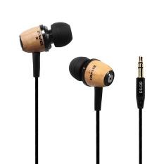 Jaywog Style Wooden In-Ear Stereo Bass Nylon Disiapkan Headset Handsfree Earphone untuk PC Telepon