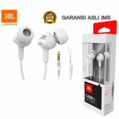 Toko Jbl C100Si In Ear Headphone Original Handsfree With Mic By Harman Guarantee Ims Putih Terlengkap Di Dki Jakarta