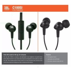 JBL C100SI In-Ear Headphones with Mic - Compatible with Android & iOS ORIGINAL -