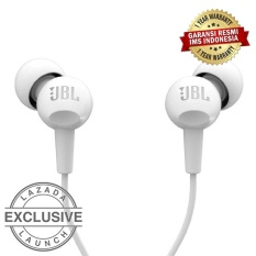 JBL C100SI In-Ear Headphones with Mic - Compatible with Android & iOS - Putih
