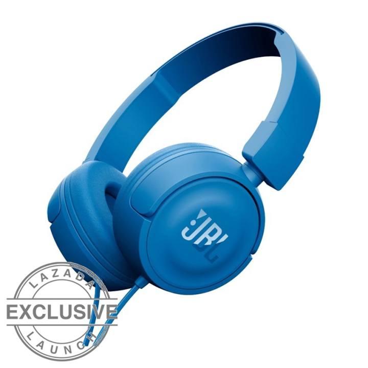 JBL T450 On-Ear Headphone- Biru: Membeli jualan online