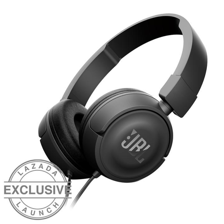 jbl t450 on ear headphone hitam lazada indonesia. Black Bedroom Furniture Sets. Home Design Ideas