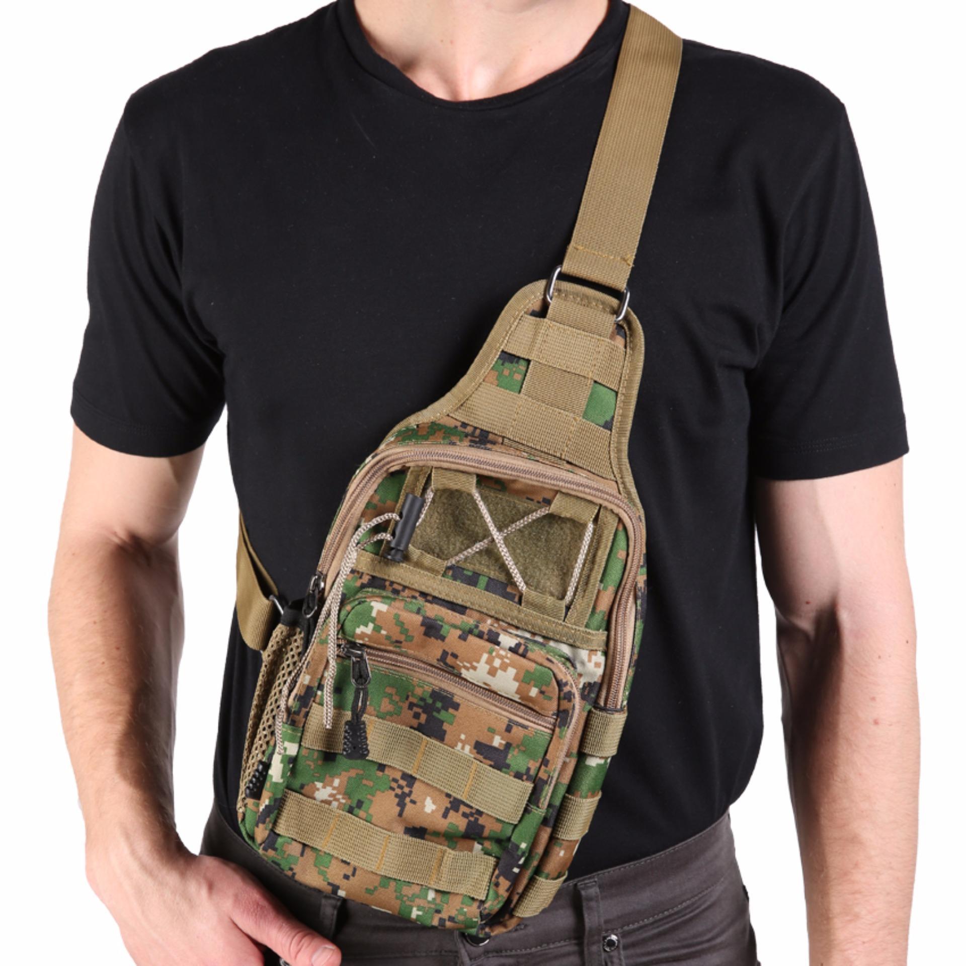 Harga Jcf Tas Selempang Import Cowok Pria Army Tactical Sling Waist Messenger Shoulder Bag Backpack Army Green 01 Yang Bagus