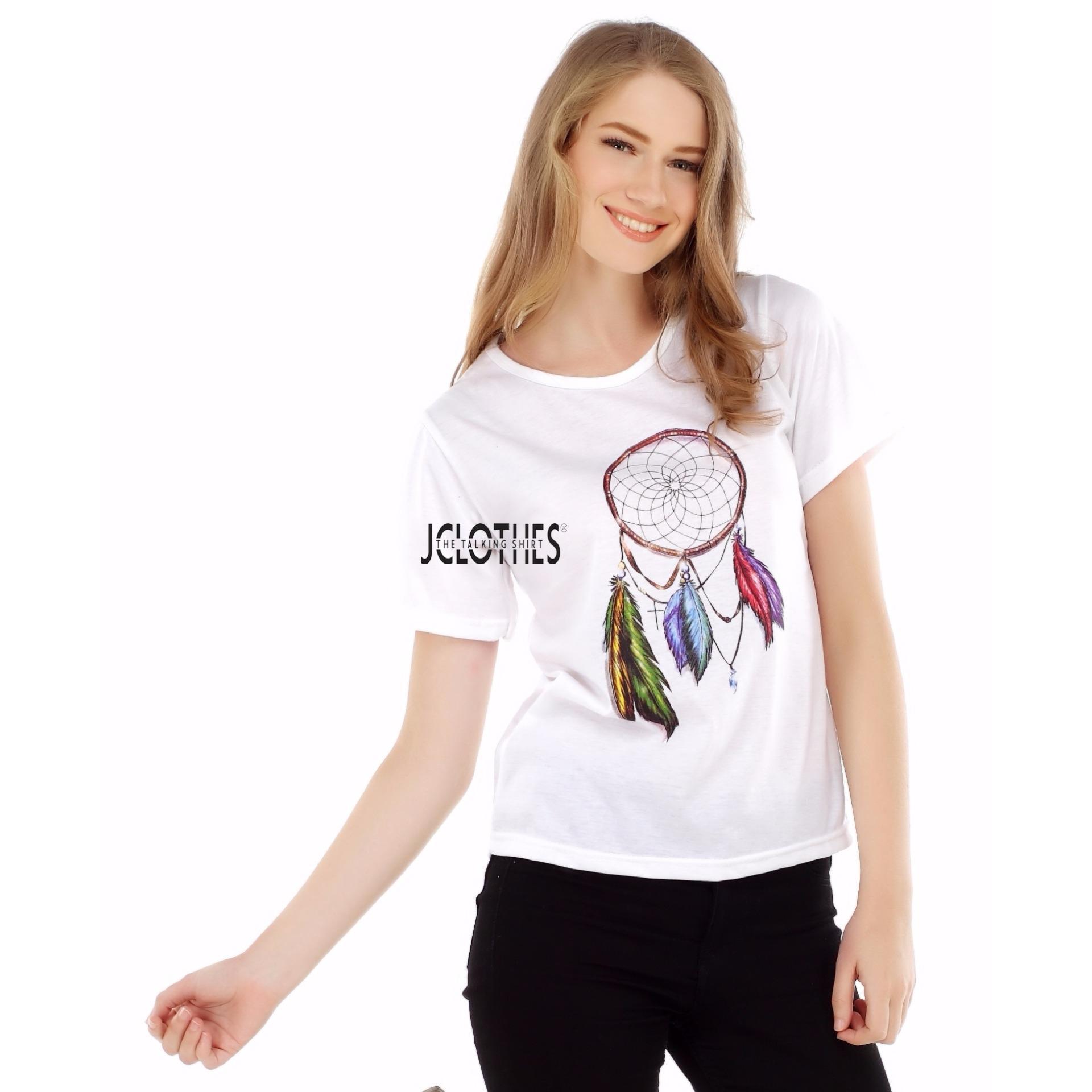 JCLOTHES Kaos Cewe   Tumblr Tee   Kaos Wanita   Baju Cewek Dream Catcher  287e818598