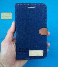Jeans Flipcover Samsung Grand 2 Warna Biru Tua