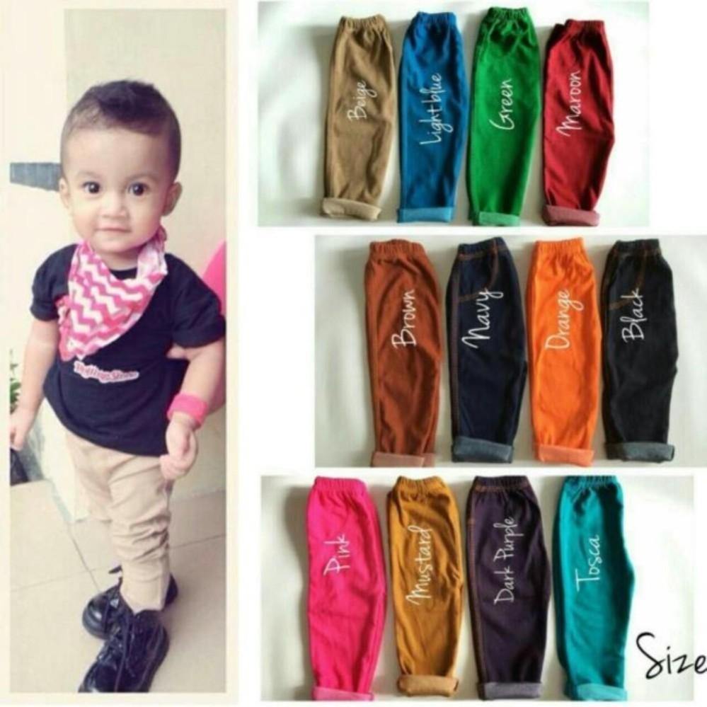 Jegging Anak Polos - Jeans Legging Anak Bayi - Celana Anak Murah By Tokonees