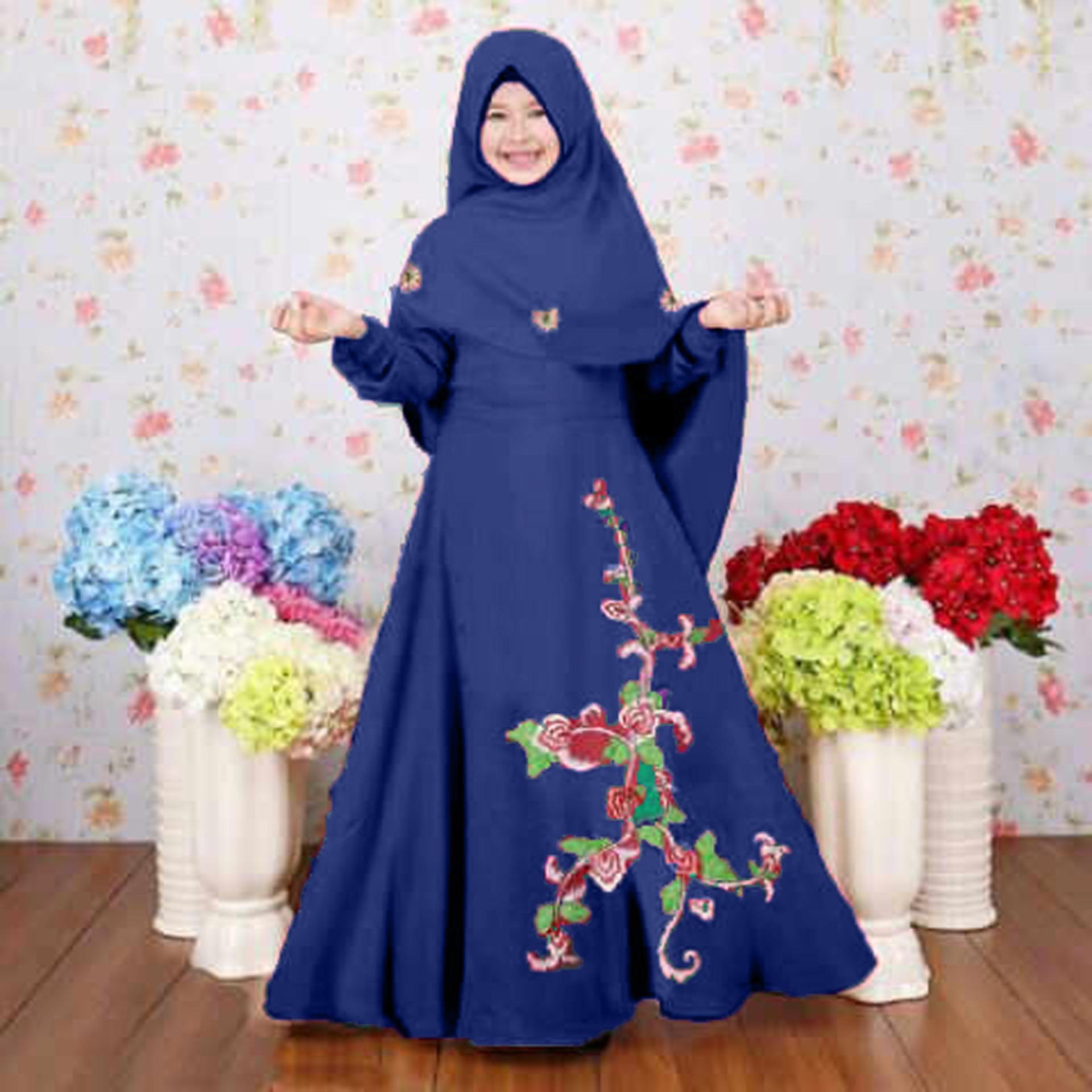 """Grateful Syari Anak"""" Zenna Umur 3 sampai 5 tahun - Maroon. Source · Jessica"""