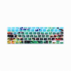 JH Silicone Keyboard Cover Skin 13 Inch  (Black and White) - Intl