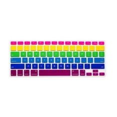 JH Silicone Keyboard Cover Skin 17 Inch  (Rose 6-color rainbow)