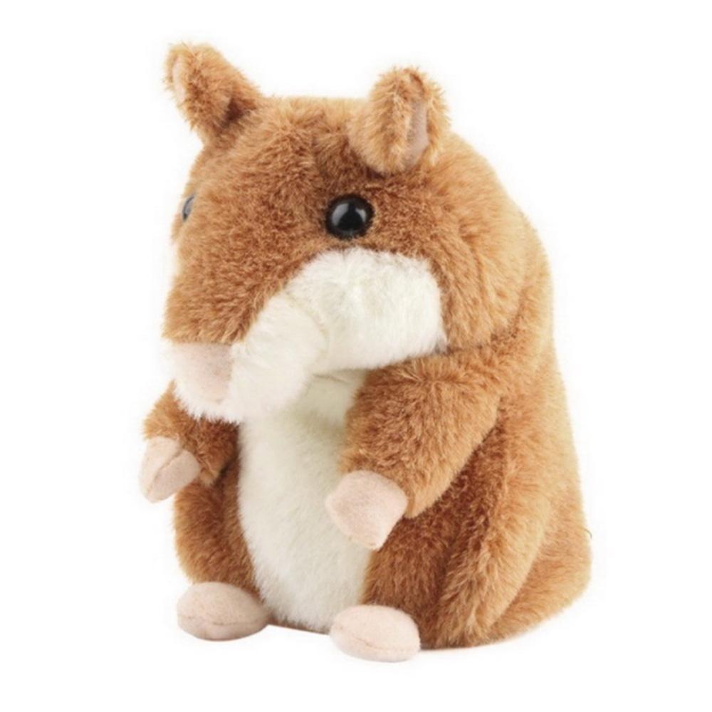 Jiaukon Premium Mimicry Berbicara Hamster Mainan, Mengulangi Apa Yang Anda Katakan dan Recordable Elektronik Plush Buddy Mouse untuk Bayi dan Anak-anak Hadiah Ulang Tahun Hadiah Natal-Internasional