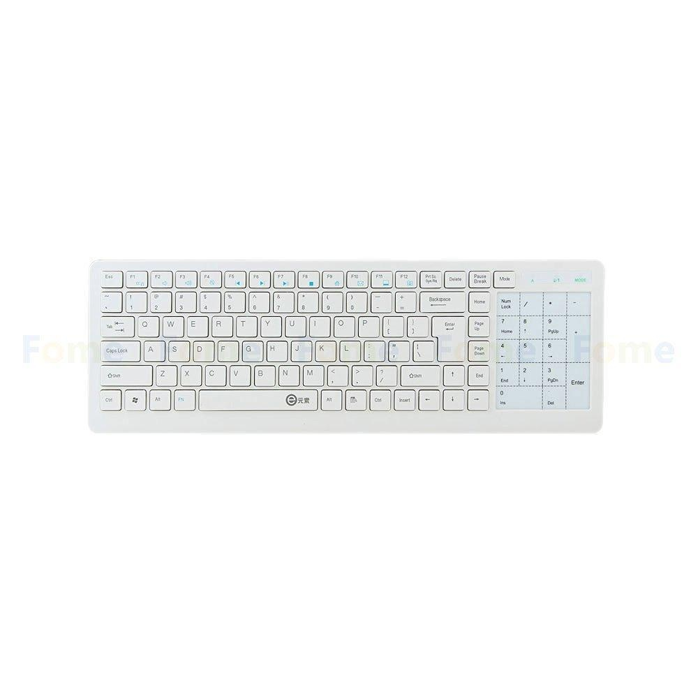 Jiaukon Wireless 2.4G Touch Keyboard Super Silent Hemat Daya Tinggi Panel Sentuh Sensitif E Keyboard Teknik Nyaman Sempurna keyboard dengan Kompatibilitas Lebar Menunggumu! (Putih)-Intl